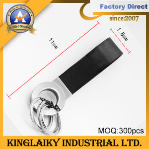 Customized Metal + Leather/PU Key Chain for Gift (KKC-003) pictures & photos