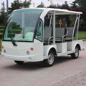 Electric 8 Seats Electric Shuttle Bus for Sale Dn-8f with Ce Certificate From China pictures & photos