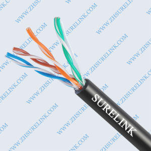Outdoor Two Jacket LAN Cable FTP Cat5e pictures & photos