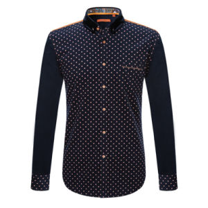 Factory 2017 Men′s Fashion Design Printing Shirts Cotton Dress Shirts pictures & photos