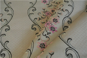 2016 1005 Polyester Jacquard Fabric on The Satin Base (FHT32005B) pictures & photos
