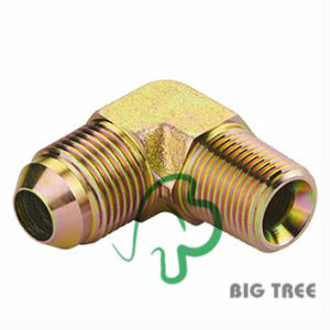 90 Degree Elbow Jic Male 74 Degree Cone Tube Adapter pictures & photos