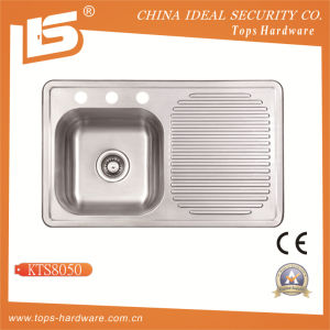 Cupc Stainless Steel Sink of Kts8050, Kitchen Sink with Drainboard pictures & photos