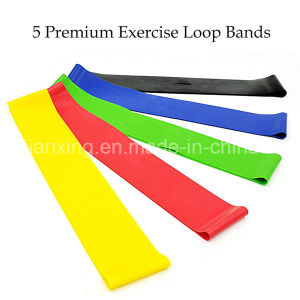 Exercise Resistance Loop Bands-Set of 4 Strength Performance Bands-Great for Physical Therapy-Fitness Theraband Stretch-Elastic Power Weight Band pictures & photos