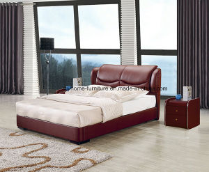 Simple Modern Style Bedroom Furniture Leather Bed pictures & photos