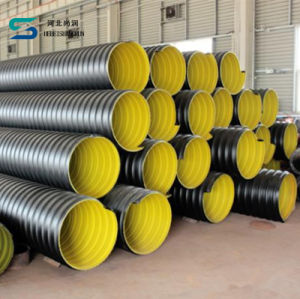ISO Steel Strip Reinforced HDPE Spiral Corrugated Pipe for Drainage pictures & photos