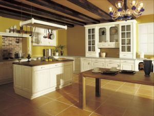 Fashion White Oak Solid Wood Kitchen Furniture