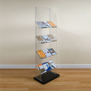 4 Layers Acrylic Display Stand/Acrylic Display Rack for Magazine, Book pictures & photos