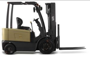 Un 2.0t Four-Wheel Battery Forklift with Two-Year Warranty pictures & photos