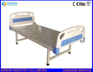 China Supply Cheapest Hospital Furniture ABS Flat Hospital Bed pictures & photos