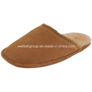 Warmful Real Cow Suede Men Moccasin Slipper (CPS-066) pictures & photos
