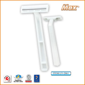 Twin Stainless Steel Blade Disposable Razor Fro Man (LY-2061) pictures & photos