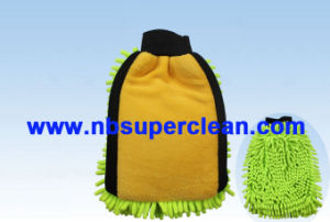 Microfiber Chenille Car Washing Cleaning Gloves (CN1419) pictures & photos