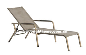 Simple Design Low Price Outdoor Textilene Sun Lounger pictures & photos
