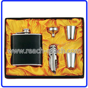 Stainless Steel Hip Flask Sets (R-HF035) pictures & photos