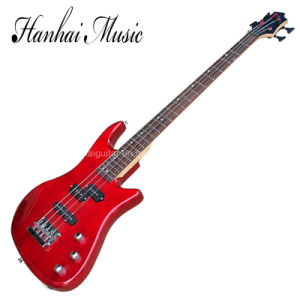 Hanhai Music / 4-String Electric Bass Guitar with Red Body pictures & photos