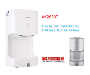 New SGS Certificate Most Energy Saving Eco ABS Body Automatic Infrared Sensor Single High Speed Jet Air Toilet Hand Dryer Fashion and Stylish (AK2630T) pictures & photos