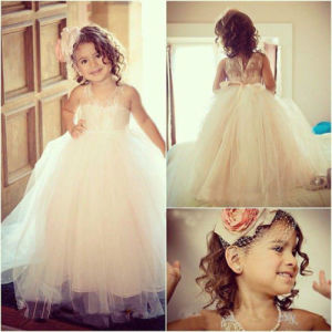 White Junior Prom Party Dress Halter Flower Girl Dress F161204 pictures & photos