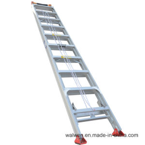 En131 China Manufacturer Single Extension Aluminum Step Ladder pictures & photos