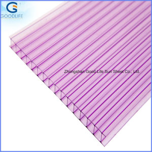 3-Wall Mutil-Wall Rectangular PC Policarbonato Hollow Sheet for Roofing pictures & photos