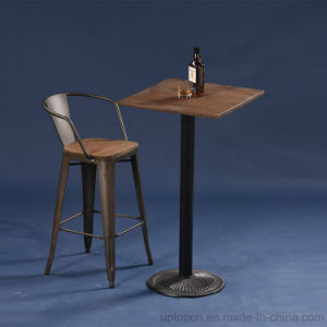 Antique Style Industrial French Bistro Metal Bar Table Set (SP-BT702) pictures & photos