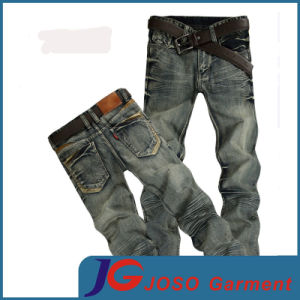 Retro Straight Slim Distressed Jeans for Young Men (JC3402) pictures & photos