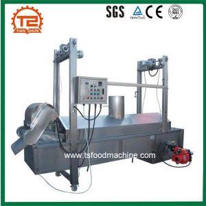 Frying Machine Continuous Belt Conveyor Cassava Chips Deep Fryer pictures & photos