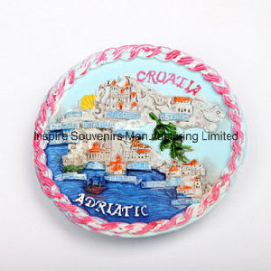 Polyresin Round Shape Colorful Fridge Magnet (PMG004) pictures & photos