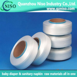 Polyester Spandex Yarn for Baby Diaper Use pictures & photos
