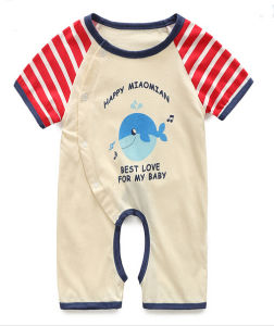 2015 Season Cotton Printed Lovely Baby Romper pictures & photos