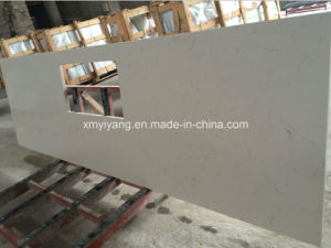 White Artificial Quartz Stone Countertop for Kitchen and Bathroom pictures & photos