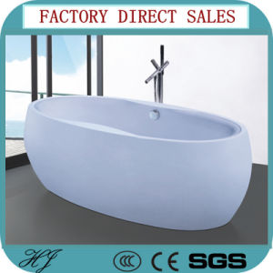 Ningjie New Model Round Soaking Bath Tub (644) pictures & photos