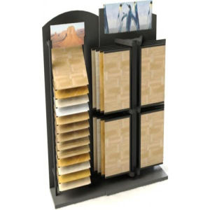 Unique Wood Flooring Display Racks with Angle Shelving pictures & photos