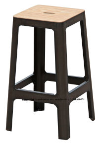 Industrial Vintage Metal Dining Restaurant Coffee Garden Wooden Bar Stools pictures & photos