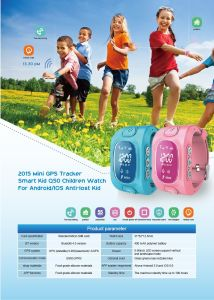 GSM Watch GPS Tracker for Children with Two-Way Communication Wt50-Ez pictures & photos