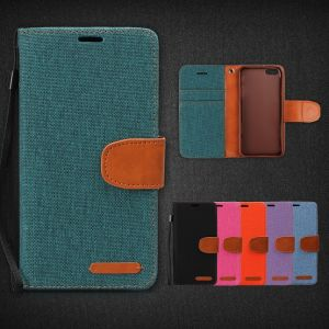 New Superior Quality Canvas and PU Cell Phone Case