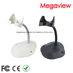 Factory Direct Sale White USB Cable Wired Auto Scan Barcode Scanner with Stand/Bracket (MG-BS816T) pictures & photos