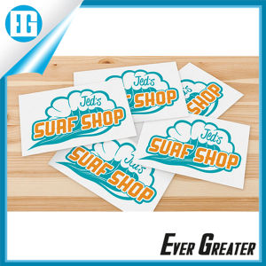White Waterproof Custom Logo Stickers for Advertising pictures & photos