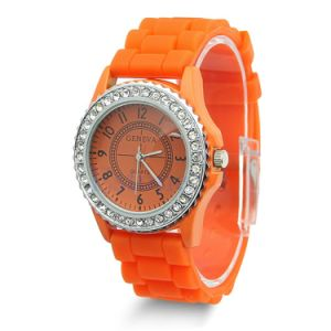 Hotsale Orange Cole Changeabole Silicone Wristband Jelly Watch pictures & photos
