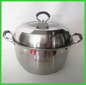Wholesale Double Handles Stainless Steel Pot pictures & photos