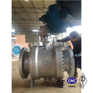Carbon Steel Wcb Pn64 Dn500 Electric Ball Valve pictures & photos