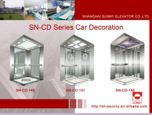 Elevator Cabin with Stainless Steel Side Panel (SN-CD-146) pictures & photos