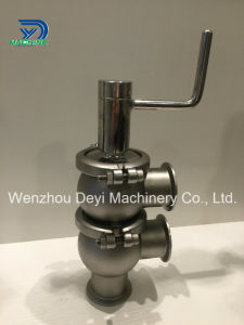 Sanitary Stainless Steel Double Seat Manual Tri Clamp Divert Valve pictures & photos