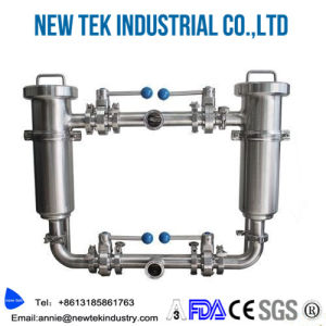 Sanitary Stainless Steel Duplex Pipeline Filter pictures & photos