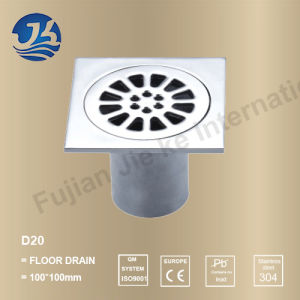 Decorative Concrete Stainless Steel Bathroom Hardware Floor Drain (D20)