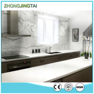 Silver White Artificial Quartz Stone for Kitchen Countertops pictures & photos