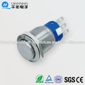19mm 1no Nc/2no 2nc Resetable Self-Locking High Flat IP67 Ik10 Push Button Switch pictures & photos