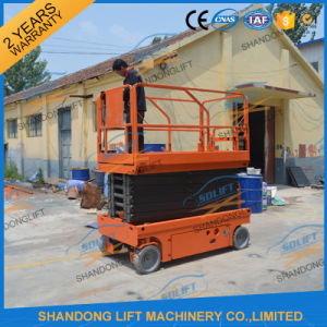 Hydraulic Self Propelled Scissor Suspended Platform with Battery pictures & photos