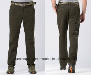 Gentle Mens Jeep Cotton Army Green Chinos pictures & photos