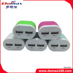 Mobile Phone Gadget EU Plug 2 USB Adapter Travel Charger pictures & photos
